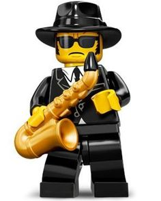 Saxophone Player Blues Brother by Lego
