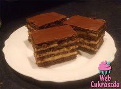 Stollwerck szelet Ital Food, Austrian Recipes, Austrian Food, Cake Cookies, Sweet Recipes, Tiramisu, Cooking Recipes, Chocolate, Baking