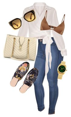 """""""Outfit"""" by angiebe1 on Polyvore featuring Yves Saint Laurent, Miu Miu, Melissa Odabash and Nixon"""