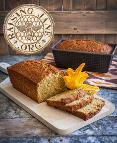 "Summer Squash Bread: Prep Time: 30 Minutes Cook Time: 50-55 Minutes Makes: Two 8"" x 4.5"" Loaves"