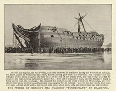 """HMS) """"Foudroyant"""" wrecked on the beach at Blackpool in June The Last Ship, Ship Of The Line, Blackpool, Plymouth, Abandoned Ships, Abandoned Places, Ship In Bottle, Old Sailing Ships, Hulk"""