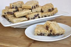 Blondies.  I wonder how they'd be with toffee chips and white chocolate chunks as well.