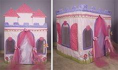 "Card Table Playhouse Pattern ""Princess Dream Castle"" omg I had one of these when I was little!!"