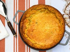 """Get """"Almost Famous"""" Corn Pudding Recipe from Food Network Corn Pudding Recipes, Corn Recipes, Greek Recipes, Veggie Recipes, Food Network Recipes, Cooking Recipes, Cooking Ideas, Food Ideas, Pie"""