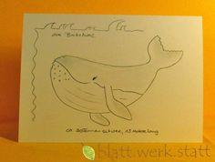 Weiteres - Grusskarte Buckelwal individuell handgemalt - ein Designerstück von blattwerkstatt bei DaWanda