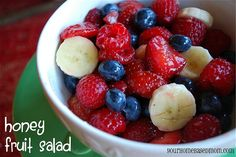 honey fruit salad - Page 422 by yourhomebasedmom, via Flickr