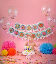 Confetti Sprinkles Happy Birthday Banner. Birthday Photo Prop. Sprinkles and Confetti Birthday