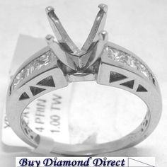 #Platinum semi Mount with Princess cut #diamonds. Find the collection of Magnificent Platinum #Ring at Buy Diamond Direct Order Now!! http://www.buydiamonddirect.com/detail.asp?product_id=xpv121