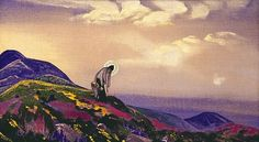 St. Panteleimon the Healer by Nicholas Roerich. Symbolism. religious painting