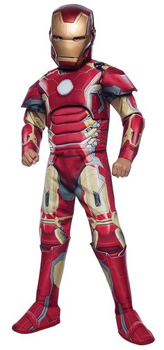 e9d163c62 Avengers Iron Man Muscle Boys Costume