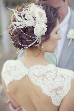 Pretty updo for a rustic wedding! Photo by Sarah Kate, Photographer. #wedding #beauty #hair #updo