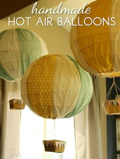 10 Baby Gifts You Can Sew! - Blissfully Domestic hot air balloons