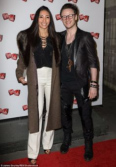Hitting the red carpet: Strictly Come Dancing pro couple Karen and Kevin Clifton attended the press night for Guys And Dolls at the Savoy Theatre, London on Wednesday night