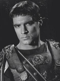 "John Gavin as Julius Caesar, in ""Spartacus"", 1960. Had the the Caesar cut before George Clooney."