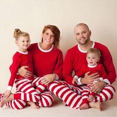 43c6a26080 2018 2pcs Toddler Childrens Winter Christmas Pajamas Set Wear