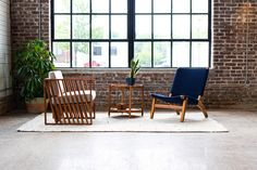 Thank you @ozarinashville for providing the perfect setting for our handcrafted furniture. Natural wood tones are a great complement to exposed brick.