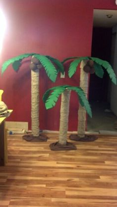 Palm trees for Jake and the Nederland pirate party