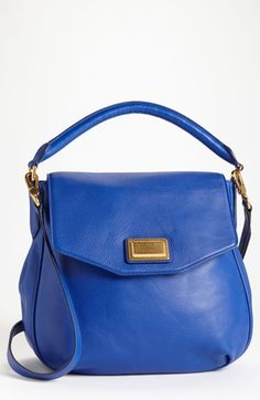 03d4e335d0 MARC BY MARC JACOBS Leather Flap Hobo omg the blue is to die for Marc Jacobs