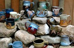 Alewine Pottery - Since 1983. Handmade functional pottery with strong emphasis on color and leaf impressions from the Gatlinburg area.