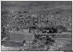 Hilton oteli-Açıkhava tiyatrosu-Elmadağ-Osmanbey ve civarının havadan görünümü