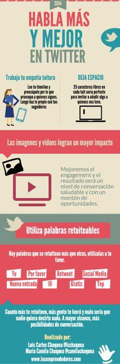 Aprende a hablar más y mejor en twitter by Luis Chaquea via slideshare