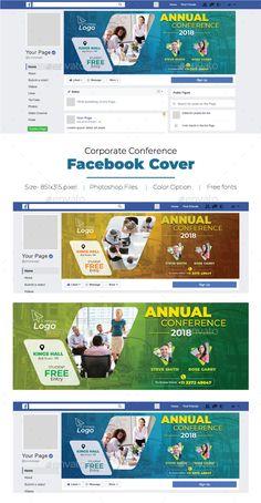 Corporate Conference Facebook Cover #Conference, #Corporate, #Cover, #Facebook Creative Facebook Cover, Facebook Cover Design, Facebook Cover Template, Facebook Timeline Covers, Photoshop Design, Kids Graphic Design, Social Design, Food Web Design, Ideas