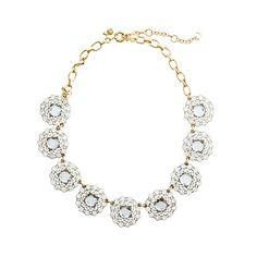 J. Crew Crystal Circle Necklace