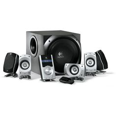 Logitech Z-5500 — Cheap surround sound system and when you add an optical switch you can support multiple digital devices. #logitech #z5500