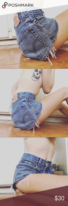 Vintage Levi's 501 Jean cutoff shorts. Vintage Levi's 501s right here! Cut off and waist is size 30 but runs small. levis Shorts Jean Shorts