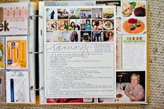 Monthly pictures front: good idea! Instead of printing pictures and just putting in albums