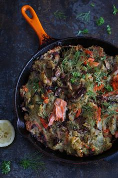 Ever resourceful with trying to get the children to enjoy salmon rather than just tolerate it, this quick and simple recipe seems to have passed the test. Not only is this the kind of food where you can add anything you fancy that happens to need using up, but it is also an excuse to add some things you might not ordinarily use. Bitter ...