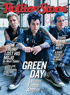 Green Day on the September 22, 2016 cover.