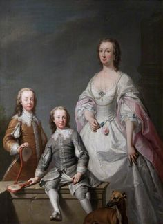 """""""Mary Assheton, Lady Curzon, with Her Two Sons, Nathaniel Curzon, 1st Baron Scarsdale, and Assheton Curzon, 1st Viscount Curzon"""", Andrea Soldi, ca. 1739."""