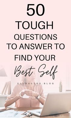 50 Questions to Answer to Find Your Best Self - Personal Growth - - 50 questions to help you find your best self. How to find your passion in life by asking yourself these 50 questions. Personal growth and self improvement. Self Improvement Tips, Self Motivation, Motivational Words, Quotes Inspirational, Self Care Routine, Self Awareness, Self Discovery, Positive Mindset, Life Purpose
