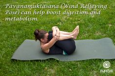 Pavanamuktasana (Wind Relieving Pose) can help boost digestion and metabolism.
