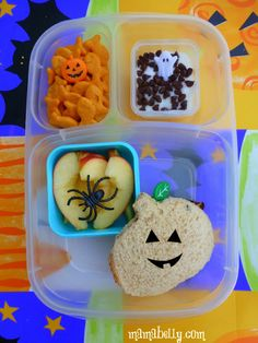 Spooky lunches with Dollar Store decorations