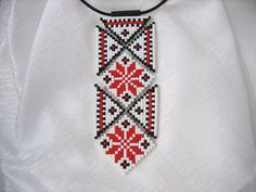 Tribal jewelry Ethnic ornament mosaic Polymer by MosaicArtJewelery