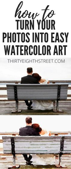 The PERFECT DIY Gift Idea! Learn How To Inexpensively Turn Your Family Photos Into Watercolor Works Of Art! Create Meaningful Home Decor From Your Family Pictures. DIY Gift Ideas. | Thirty Eighth Street