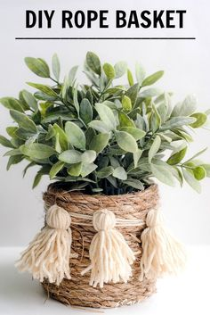 Get the tutorial of how you can make this cute rope basket!