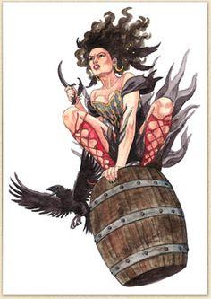 Aventurische Hexe von Caryad.