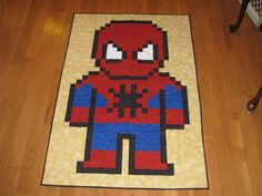 Spiderman Lap Quilt by quiltoni.deviantart.com on @deviantART
