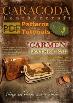 Leathercraft Patterns and Tutorials issue 3 handbag Carmen