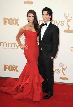 Nina Dobrev and Ian Somerhalder  Emmys 2011