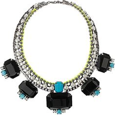 Black Square Statement Necklace available at Lilli + Louise! Email lillilouise@outlook.com to order & Follow us at www.facebook.com/lillilouiseclothing