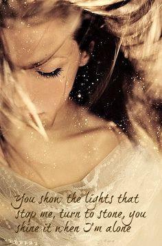 Beautiful lyric art Lights-Ellie goulding