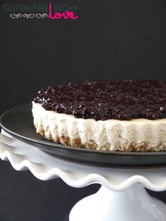 Blueberry Cheesecake Tart #glutenfree #grainfree #paleo
