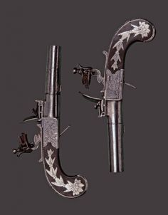 Pocket pistols, made by Wise of Bristol in the early 19th century