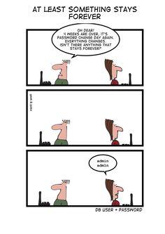 Stay Forever — Geek&Poke #security
