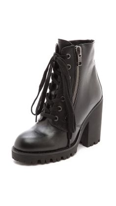 Ash Poker Lace Up Heeled Booties |