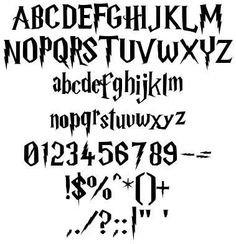 Before I've posted about Harry Potter Graffiti , Now i want to show about Harry Potter Fonts . harry potter font has a specific characteris. Harry Potter Font Free, Harry Potter Style, Harry Potter Theme, Harry Potter Birthday, Harry Potter Books, Harry Potter Alphabet, Harry Potter Nursery, Harry Potter Classroom, Harry Potter Schrift